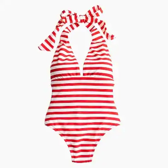 bfd25deb723 J. Crew Swim | Jcrew Red White Striped Halter Suit Ladies | Poshmark